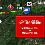 Mill Creek Rd. is CLOSED in both directions due to low visibility.. Expected to open up at 10:30PM @WLOS_13 http://t.co/s6ZZxbBTnp