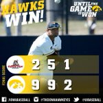 #Hawkeyes WIn. Iowa moves to 18-6; team back in action tomorrow at WIU. #B1GBaseball http://t.co/MgadvwYSIq