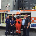 VICSES (including Paddy Platypus!) with colleagues from @AmbulanceVic & @VictoriaPolice #DriverReviver #RestOrRescue http://t.co/ZYFRI06o8N