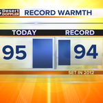UPDATE: We inched up a degree more. 95 it is. A record-breaking day in #Phoenix. #abc15wx #azwx http://t.co/RUOKIl9O5N