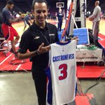 On #DetroitGP Night at the @DetroitPistons game, @h3lio gets his own jersey. But can he hit a 3??? http://t.co/27rbz8f8Dj