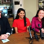 Javani Patel, Dominique Rivera, and Katherine Davis at the @GreaterLowellY, where a 26-yo Lowell man was saved Sunday http://t.co/2NpkOctG73