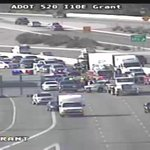 I-10 Eastbound at Grant Rd in #Tucson - The center lanes are blocked by a crash. http://t.co/0vTmQj4f0v