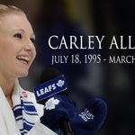 Our thoughts are with the family and friends of Leafs anthem singer Carley Allison who passed away today. http://t.co/gd9UQJDsf0