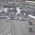 Bad crash east bound lanes I-10 @ Grant Rd. No word yet on injuries but #traffic backed up. #Tucson http://t.co/rd7F1axDQg