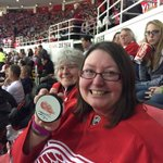 Congrats to Lynne, who won a signed Nyquist puck after Gus found the back of the net in the 2nd. #STHPuckGiveaway http://t.co/Vf06kH8klp