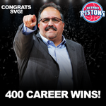 Tonights win was the 400th career victory for Stan Van Gundy.  Congrats, Coach! http://t.co/vuoFtRqsio
