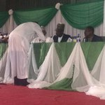 """@inecnigeria: Representative of CPP signs result sheet #Nigeriadecides http://t.co/nZL0qCA9in"""