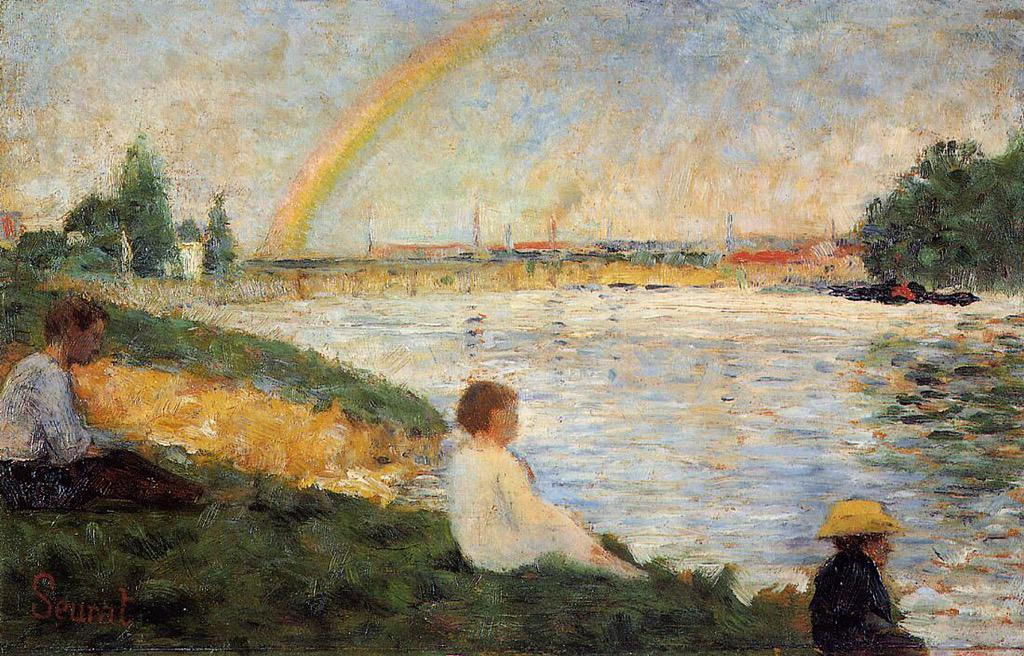 Rainbow Georges Seurat (1883) #dailyart http://t.co/uqrOn11fGd