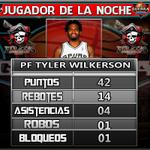 """#BSN Tyler Wilkerson de los Piratas de Quebradillas es el """"Jugador de la Noche"""" tras una espectacular actuación. http://t.co/tiqgmO8Juo"""
