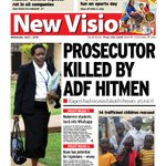 In todays NEW VISION #Prosecutor killed by ADF! #AuditorGeneral - Rot in #oil companies #Mwalimu pull-out http://t.co/6JkDARhVVR