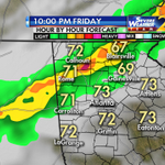A line of storms Friday PM at start of Passover & Good Friday. Easter Sunday dry & cooler. My 4cast at 6:19 #wsbtv http://t.co/RKnnn5GY3U