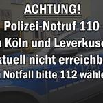 ACHTUNG! Störung des Polizei-Notrufs 110 in #Köln und #Leverkusen (KEIN Aprilscherz!): http://t.co/vXdeAxNfe5 http://t.co/J7E4Z7wWHx