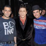 Spotted!!  Salman, SRK and Aamir together at a suburban cinema theatre