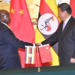 I had a meeting with the President of China H.E Xi Jinping. We discussed strengthening China-Uganda relations & trade http://t.co/tIbY0dcp2i