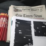 Teaching #Blackout #Poetry at Springfield Elementary today! Thank you, @austinkleon and @GoErie/Erie Times-News! http://t.co/II3qGGnMOF