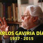 Anoche falleció el ex magistrado Carlos Gaviria Díaz. Paz en su tumba http://t.co/I15U8H82vO http://t.co/9B9kIkoS0R