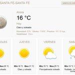 Buen miércoles, 1/2 de semana. En #SantaFe, despejado, 16º temp, max 29º. Acá, las noticias http://t.co/4DKjLRWYr0 http://t.co/bA4u6jnUUN