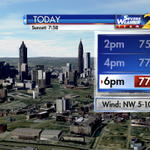 Rain ending; skies will clear for sunny afternoon & temps in the 70s. More rain this week. The timing at 6:49 #wsbtv http://t.co/qX99mTqRaZ