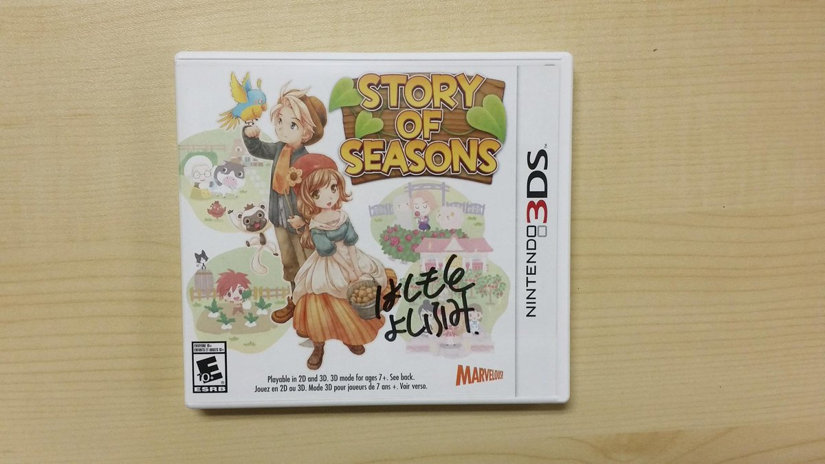 Want to win Story of Seasons on 3DS (& some art) signed by Yoshifumi Hashimoto? Follow & RT! (NA/CAN residents only) http://t.co/XXcCX9pmZC