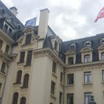 Watching chimney of Beau Rivage in Lausanne for white smoke or black smoke. So far, just smoke & mirrors #IranTalks http://t.co/8Pk49WyleM