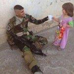 عادة الحياة الى تكريت العراق ينتصر هكذا كان اليوم الاول للبواسل بين اهليهم فيها . http://t.co/VzFi5AJdYc