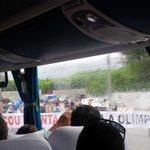 @leisecarj protesto dos moradores da vila do pan, ayrton senna sentido centro. So uma faixa liberada... http://t.co/iOVWzPwkBm