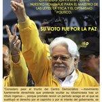 Carlos Gaviria Díaz, Homenaje para el maestro de las leyes, la ética y el optimismo político. Su voto fue por la paz http://t.co/ZUoXmtgzui