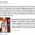 RT @leon_james: Here's my first song from #Kanchana2 - Vaaya Yen Veera! Hope you like it:) @taapsee @KoSesha  https://t.co/DMYx4emdDL