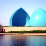 The two domes of al-Shaheed (Martyr) Monument in Baghdad, Iraq. #visitiraq http://t.co/eZgy3m4SGg