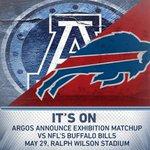 BREAKING: #Argos announce exhibition game vs. @BuffaloBills at Ralph Wilson Stadium.  LINK: http://t.co/MvhLjWTAYz http://t.co/AElbXTr918