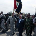 First pics of #Iraq PM Abadi in downtown #Tikrit following its liberation from ISIS https://t.co/NZmcr8LxmF http://t.co/8Gc6cTYHUN
