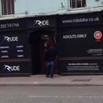 #AprilFoolsday2015 at my local bike shop @ridebikepoole Love it! http://t.co/cdRSfd1emO