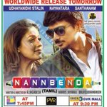 RT @AndhraBoxOffice: .@Udhaystalin #Nayanthara #Nannbenda Releasing tomorrow incl  Hyd, Vizag.. by Fox Star  Lists http://t.co/Dq6hVKeFJv h…