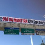 A @DilmaBR mandou a AGU @AdvociaGeral cobrar a grana do Mensalão do Lula/PT . . #ConteAquiUmaMentira no #DiaDaDilma http://t.co/mv3S9DMRCe