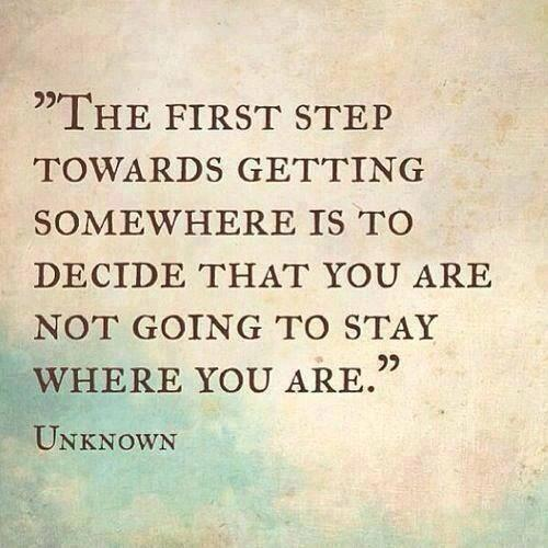 The first step towards getting somewhere is to decide that you are not going to stay where you are. #BloggyCon15 http://t.co/W8J4wDYQUQ