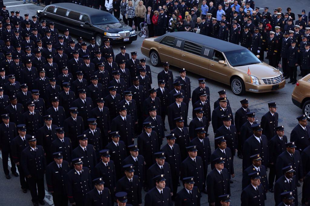 Heartbreaking. #RIP RT @EmilyWCPO: Procession for #CFDGordon outside St. Peter in Chains. @WCPO http://t.co/YuruGg6MDO