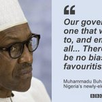 Nobody will be above the law in Nigeria, newly-elected president Muhammadu #Buhari vows http://t.co/EzVEqw8EU6 http://t.co/1jgYoc2Qry