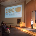 Excited to be back at @1MillionCupsKC! Feeling the pressure to ask a good, concise question. #1MCKC http://t.co/mBYGvQmY8Q