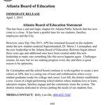Statement from ATL board of education regarding cheating verdict: @wsbtv http://t.co/NWOFvc9pgX