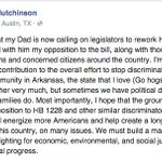Gov of Arkansas sons statement about why he signed a petition urging his father to veto #ReligiousFreedom bill: http://t.co/g4AEqY5v4Q
