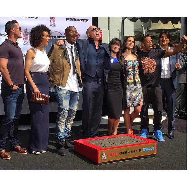 Love this! The Furious7 family came out to support @VinDiesel: