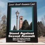 @northerniowa stands against sexual assault. http://t.co/OUMv0ojUcm