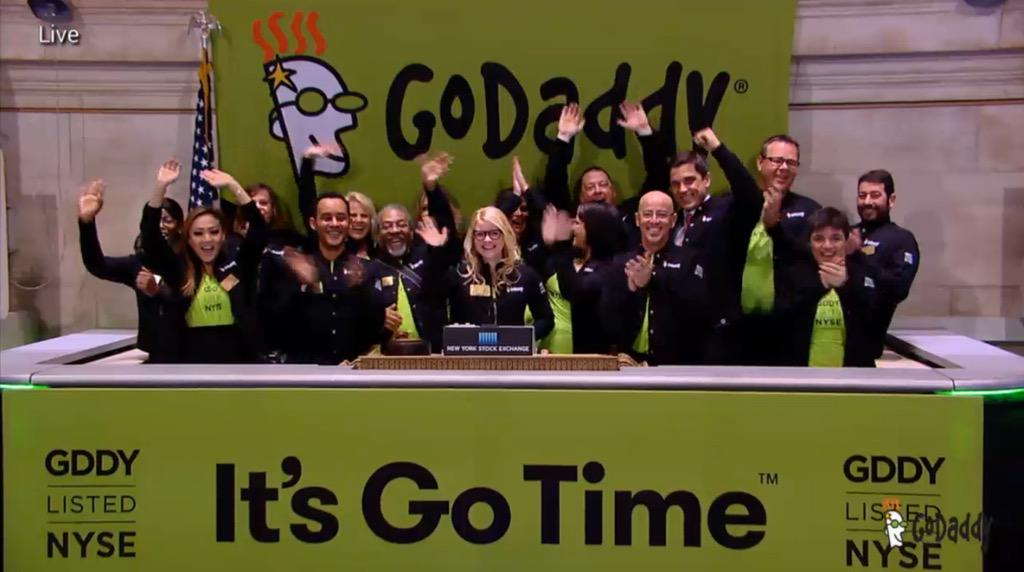 A great day for @GoDaddy--With awesome customers, GD Care & @nyse pres Tom Farley ringing opening bell for #GDDY IPO http://t.co/qAGlwwNj6i