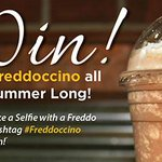 Today, were chatting about the oh-so-delicious #Freddoccino - and sharing info about the latest Selfie contest! http://t.co/8GTwCvxBrp