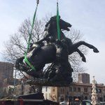 Third horse going in at JC Nichols. #KCParks #CityofFountains http://t.co/NdhYUFJnTZ