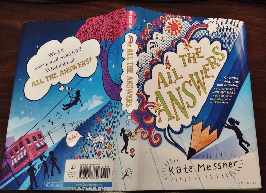 RT @AlisonLMorris: Love when books w/ great kid-appeal get kid-friendly covers! All the Answers @KateMessner #NailedIt @bloomsburykids http://t.co/Us6PgSfqHA