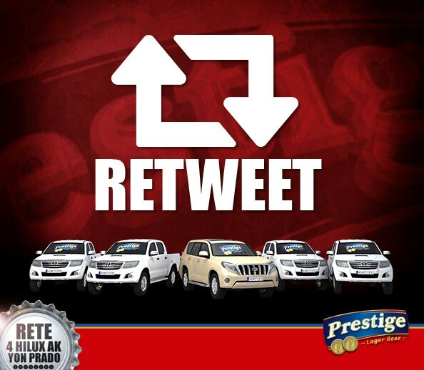 #Retweet pou nou ka genyen youn nan Toyota sa yo. #AnbaBouchonAn #KenbePrestigeOu http://t.co/PrQswsuQSq