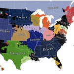 What's not to LIKE? #MLB Facebook Fandom Map across the country, check out the #SFGiants fans in ORANGE http://t.co/wy20qjE6yn