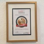 We are very proud to have our @EntGuideAwards #FinalFive certificate on the wall for Best Family Day Out! #Edinburgh http://t.co/Nx4ZfcDamU